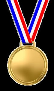 Gold Medal Transparent Background PNG icons