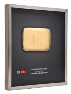 Gold Play Button PNG Clipart PNG Clip art