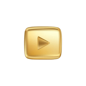 Gold Play Button PNG HD PNG Clip art