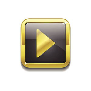 Gold Play Button PNG Pic PNG Clip art