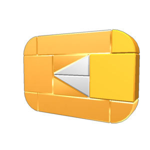 Gold Play Button Transparent Background PNG Clip art