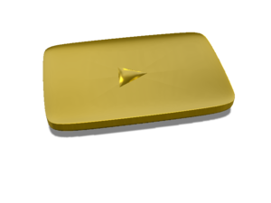 Gold Play Button Transparent PNG PNG Clip art