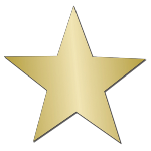 Gold Star Sticker PNG Image PNG image