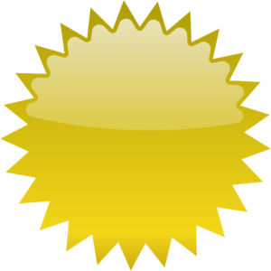 Gold Starburst Transparent PNG PNG Clip art