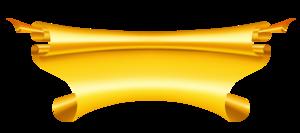 Golden Ribbon Transparent Background PNG Clip art
