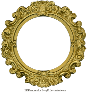 Golden Round Frame PNG Clipart PNG Clip art