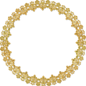 Golden Round Frame PNG HD PNG clipart