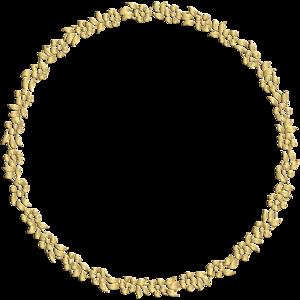 Golden Round Frame PNG Image PNG Clip art