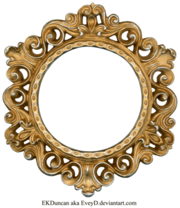 Golden Round Frame PNG Photo PNG Clip art