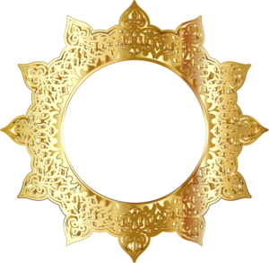 Golden Round Frame PNG Picture PNG Clip art
