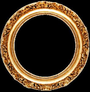Golden Round Frame PNG Transparent PNG Clip art