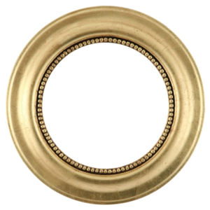 Golden Round Frame Transparent Background PNG clipart