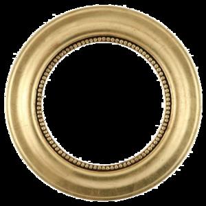 Golden Round Frame Transparent Background PNG Clip art