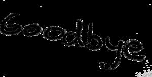 Goodbye PNG HD Quality PNG Clip art