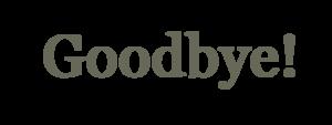 Goodbye PNG Transparent Background PNG Clip art
