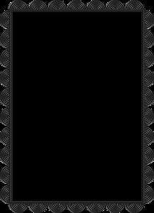 Gray Border Frame Transparent Background PNG Clip art