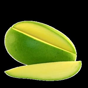 Green Mango Slice PNG PNG Clip art