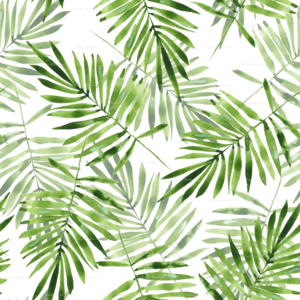 Green Palm Leaves PNG Transparent PNG Clip art