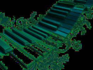 Green Piano PNG PNG Clip art
