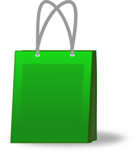 Green Shopping Bag Clip Art PNG PNG icon