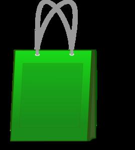 Green Shopping Bag Clip Art PNG PNG Clip art