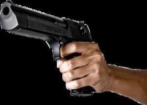 Gun In Hand PNG File PNG Clip art