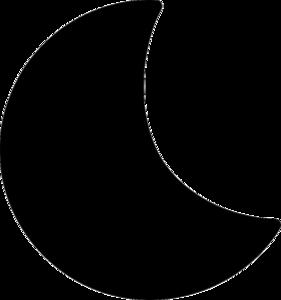 Half Moon Transparent Background PNG Clip art