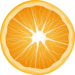Half Orange Transparent Background PNG Clip art