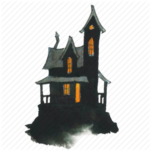 Halloween House PNG Pic PNG clipart