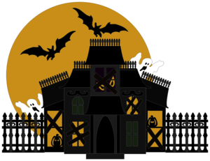 Halloween House PNG Transparent Picture PNG Clip art