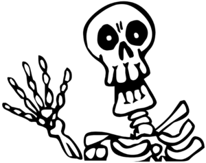 Halloween Skeleton PNG Picture PNG image