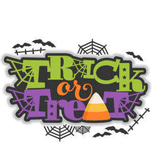 Halloween Trick Or Treat Transparent Background PNG Clip art