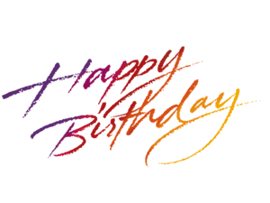 Happy Birthday Calligraphy Transparent Background PNG Clip art