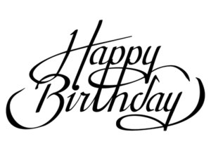 Happy Birthday Calligraphy Transparent PNG PNG Clip art