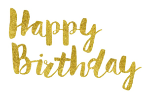 Happy Birthday Text PNG Free Download PNG Clip art
