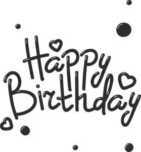 Happy Birthday Text PNG Image PNG Clip art