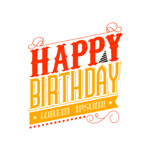 Happy Birthday Text PNG Photo PNG Clip art