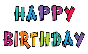 Happy Birthday Text PNG Transparent Image PNG Clip art