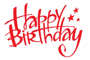 Happy Birthday Text PNG Transparent PNG Clip art