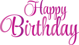 Happy Birthday Text Transparent Background PNG Clip art