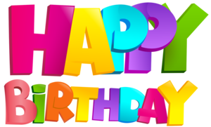 Happy Birthday Text Transparent PNG PNG Clip art