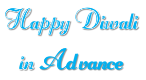Happy Diwali In Advance PNG Transparent File PNG Clip art