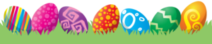 Happy Easter Eggs In Grass PNG PNG Clip art