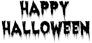 Happy Halloween Text Transparent Background PNG Clip art