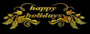 Happy Holidays Transparent PNG PNG Clip art