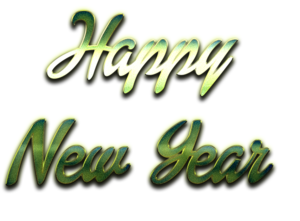 Happy New Year Letter PNG File PNG Clip art