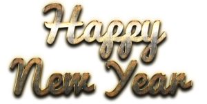 Happy New Year Letter PNG Pic PNG Clip art
