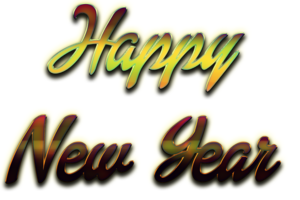 Happy New Year Letter Transparent Background PNG clipart