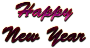 Happy New Year Letter Transparent PNG PNG Clip art