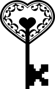 Heart Key PNG Photo PNG Clip art